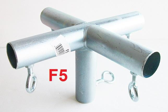 5 way TOP FLAT CENTER CANOPY FITTING (F5) 3/4  Pipe ~ Canopy Parts & way TOP FLAT CENTER CANOPY FITTING (F5) 3/4