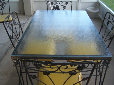Vintage Wrought Iron Patio Table And 4 Chairs Glass Top