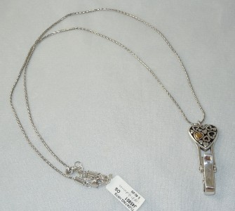 Brighton floating hearts id badge holder long necklace nwt for Brighton badge holder jewelry