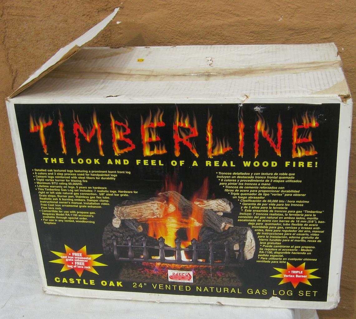 Timberline Castle Oak 24 Vented Natural Gas Log Set Fireplace Insert Radco Ebay