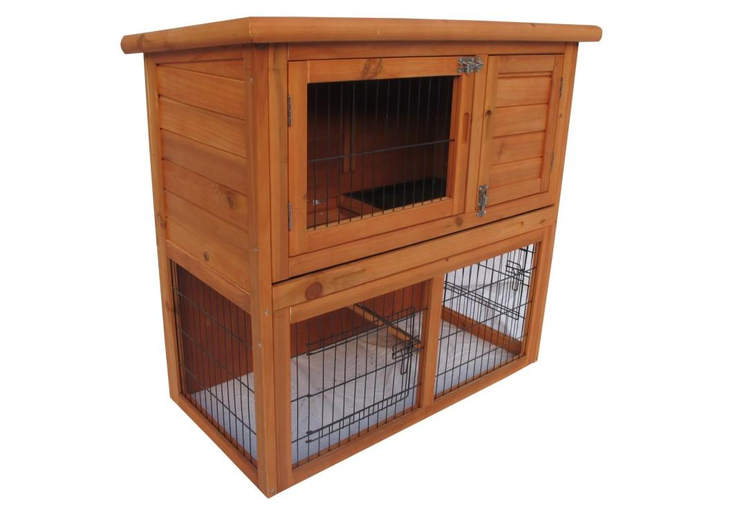 New deluxe portable wood chicken coop hen house duck for Movable duck house