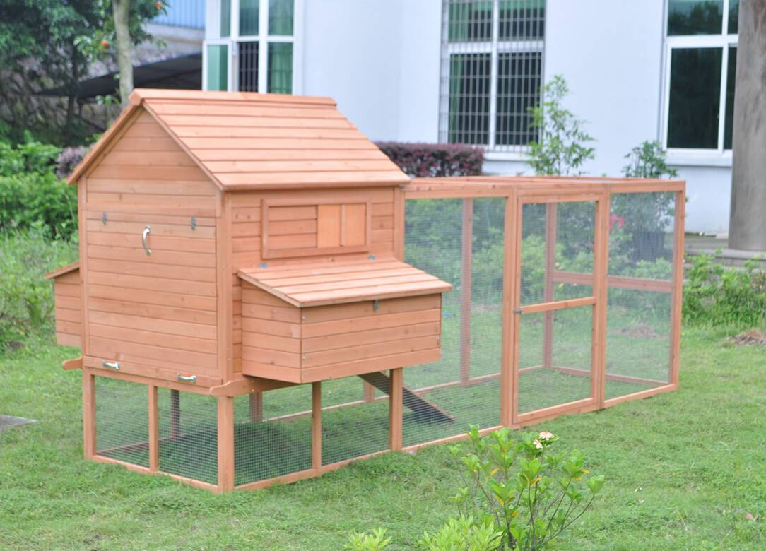 12 39 wood hen chicken duck poultry run hutch house coop for Duck houses and runs