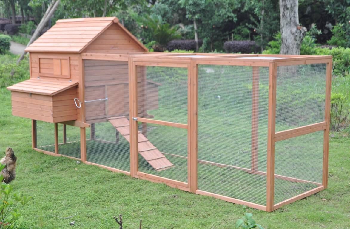 Huge 12 39 chicken coop running cage backyard poultry hen for Chicken coop for 2 chickens