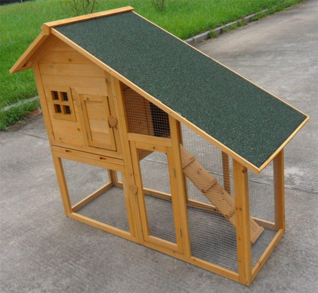 New 57 deluxe portable wood chicken coop hen house duck for Portable hen house