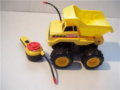 Boys tonka toy lot remote control dump truck tractor for Motorized toys for boys