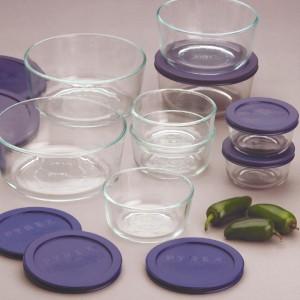 pyrex food storage plus 18 pc set 9 containers lids new. Black Bedroom Furniture Sets. Home Design Ideas