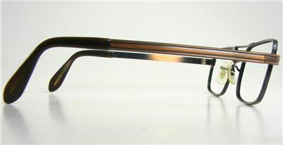 Eyeglass Frame Usa : Artcraft 1970s VTG Antiqued Copper Rectangle Eyeglass ...