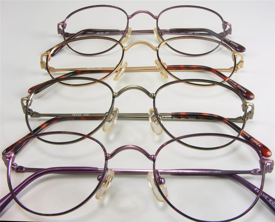 Gold Wire Eyeglass Frames : WIRE RIM EYEGLASS FRAMES NOS VTG 4 COLORS! TORTOISE WINE ...