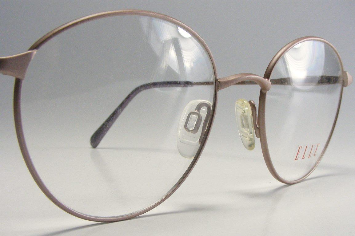 1980s rhodium eyeglass frame made in japan vtg p3