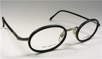 Gant Eyeglass Frames Parts : STUNNING BLACK PEWTER WIRE RIM METAL OVAL VINTAGE NOS USA ...