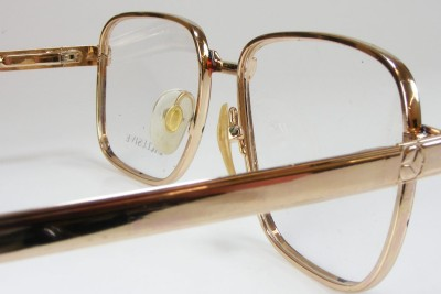 Real Gold Eyeglass Frames : Real 18K Gold Plate Mens Square Demi-Amber Retro NOS ...