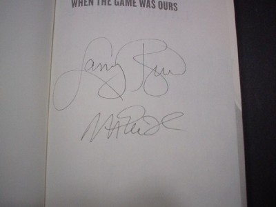 & Magic Johnson Autographed Book When The Game Was Ours JSA Cert