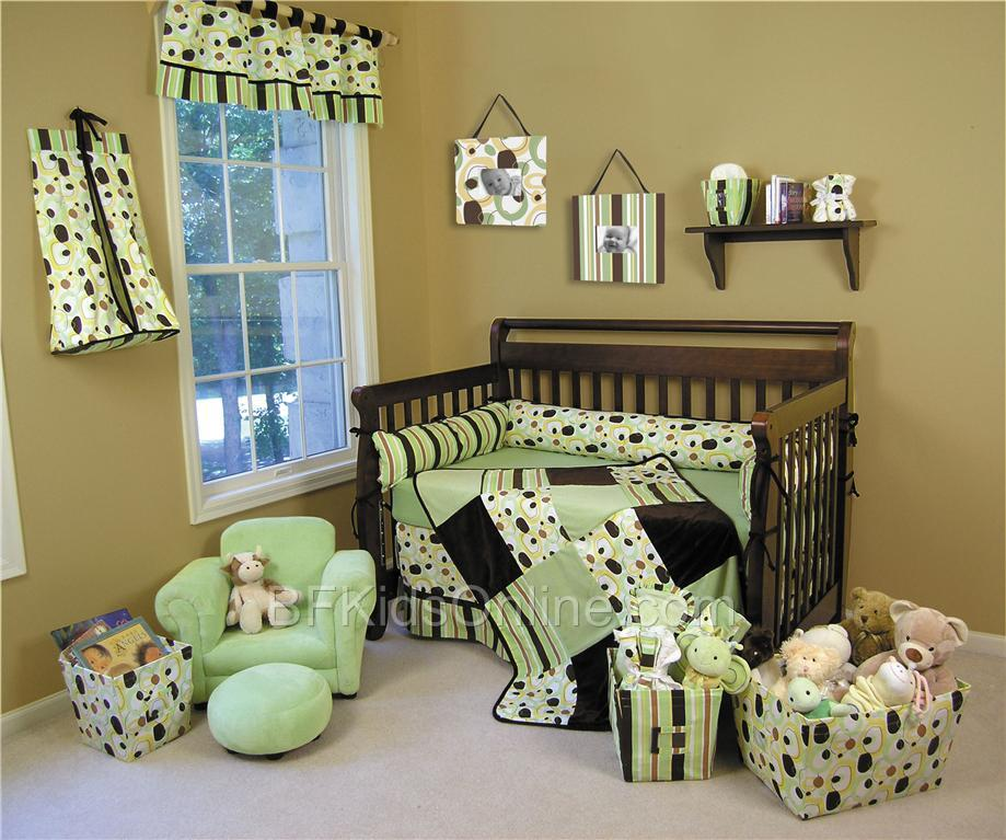Sweet Safari Blue Brown Zebra Baby Boy Crib Bedding Set