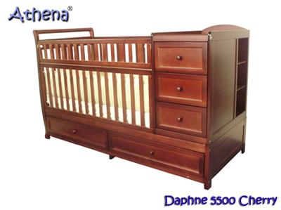 daphne 4 in 1 convertible crib with attached table and bottom drawers