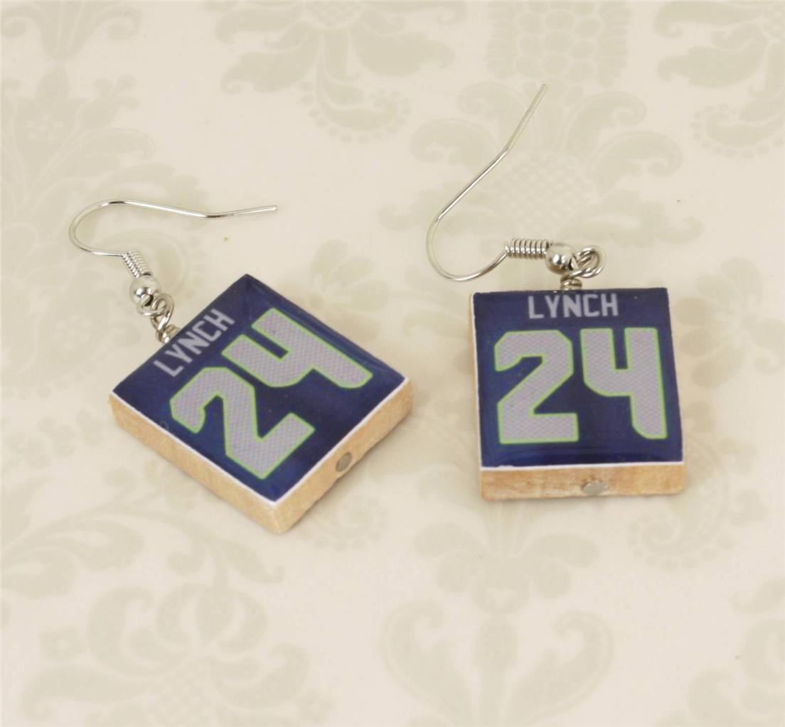 Seattle Seahawks #24 Lynch Necklace, Cufflinks, Ring or Earrings - You Choose