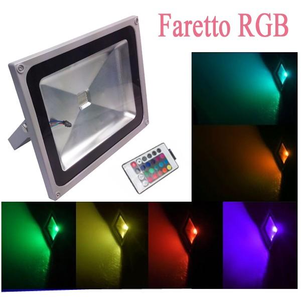 Illuminazione fari led rgb colorati luci led da esterno for Led vendita
