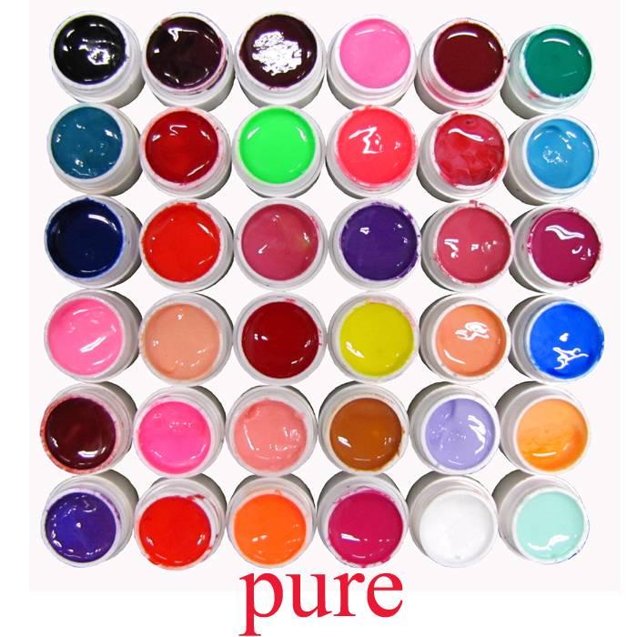 36-UV-Gel-UV-Colorati-Ricostruzione-Unghie-Nail-Art-Manicure-Decora-Vari-Colori