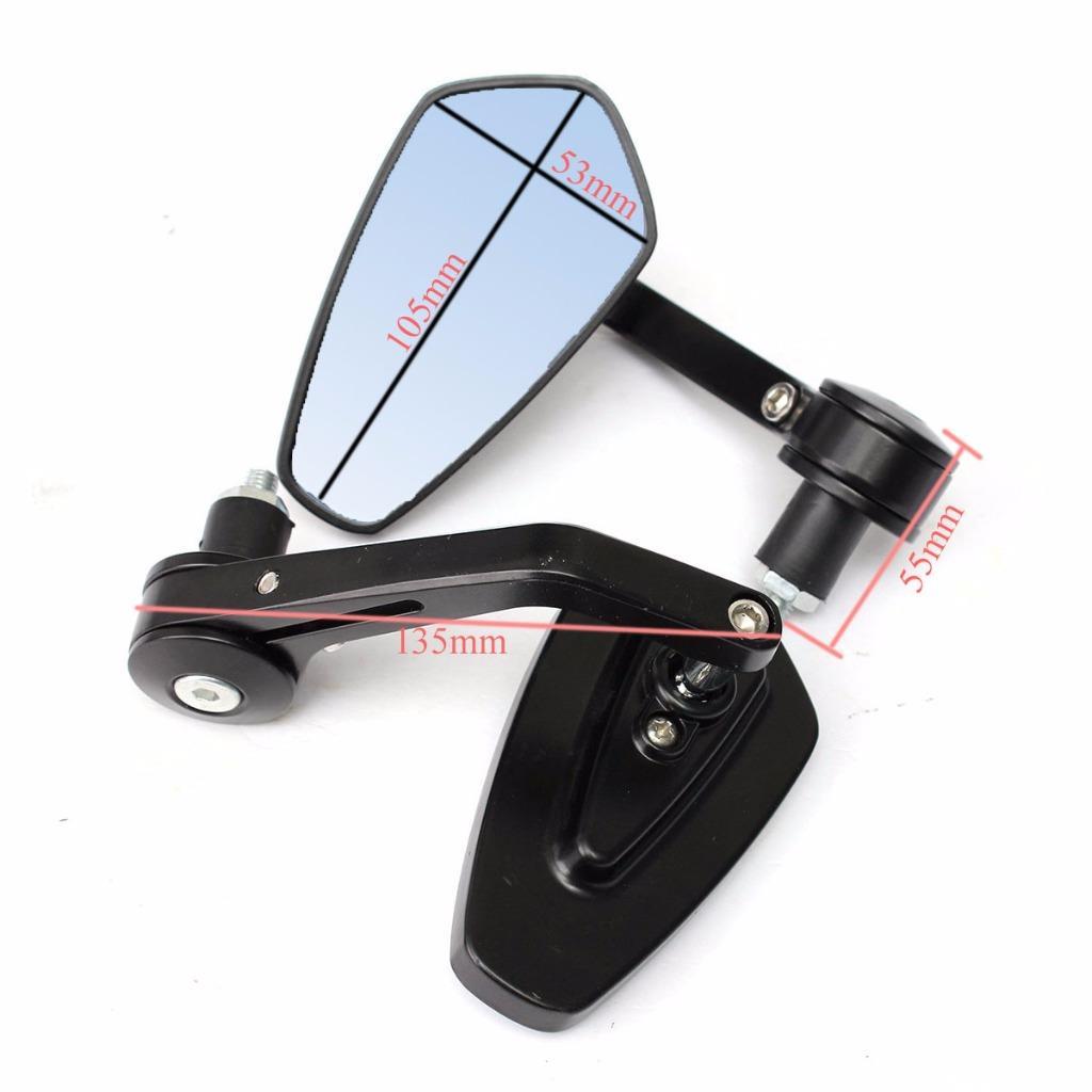 Universal 22mm motorrad lenker bar end r ckspiegel mirrors for Spiegel unten motorrad