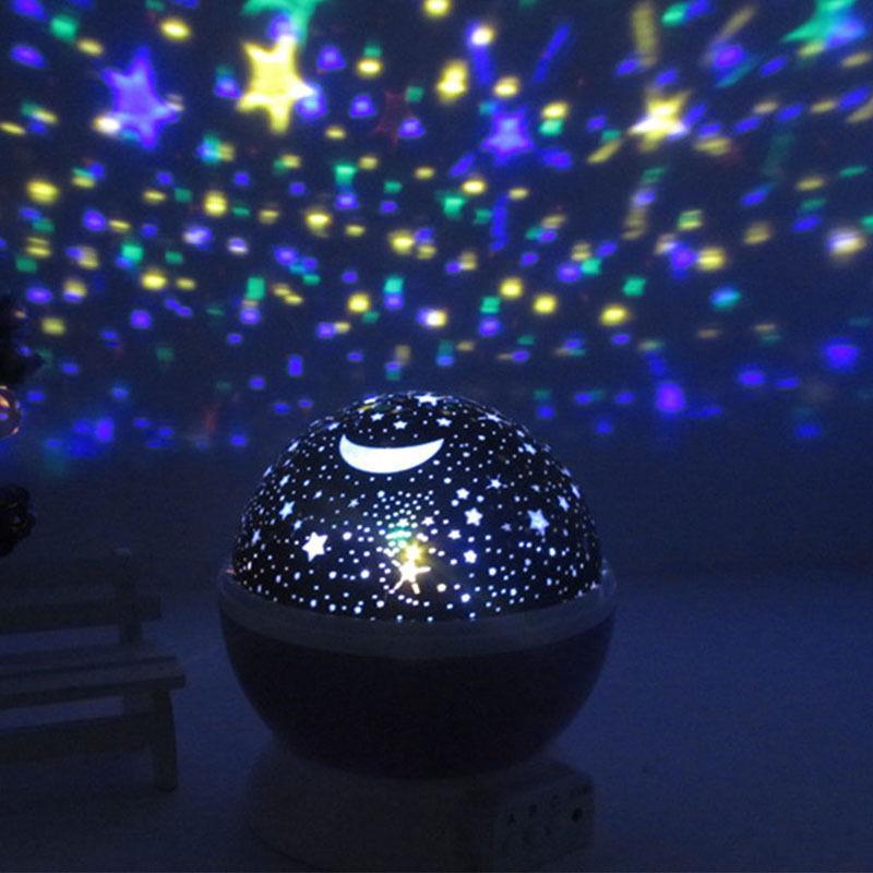 led sternenlicht nachtlicht baby lampe projektion sternenhimmel projektor kinder ebay. Black Bedroom Furniture Sets. Home Design Ideas