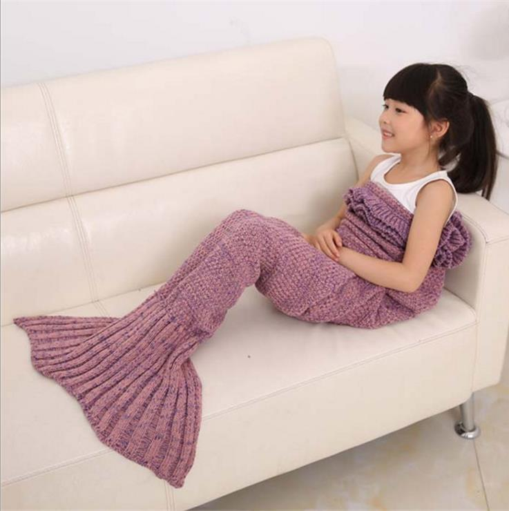 Gehäkelte Mermaid SchwanzSofaDecke Cocoon Knit