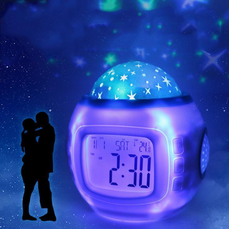 led sternenhimmel projektor nachtlicht nachtlampe h bschen wecker beleuchtung ebay. Black Bedroom Furniture Sets. Home Design Ideas