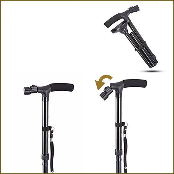 aluminium magic cane adjustable folding extendable walking stick led lights