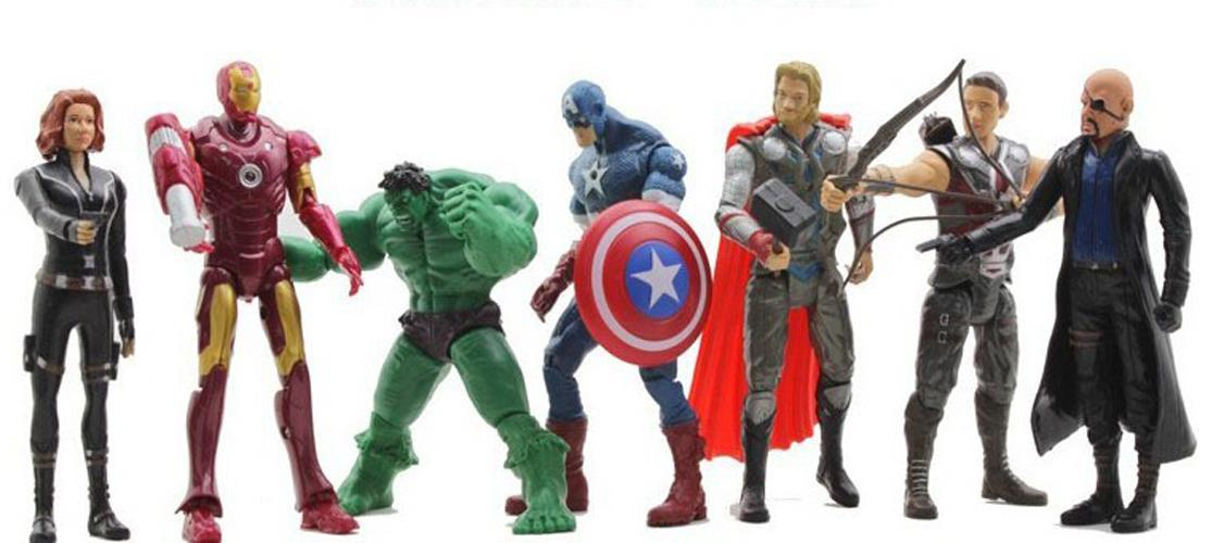 7pcs the avengers action figure marvel hulk captain - Vitrinas para miniaturas ...