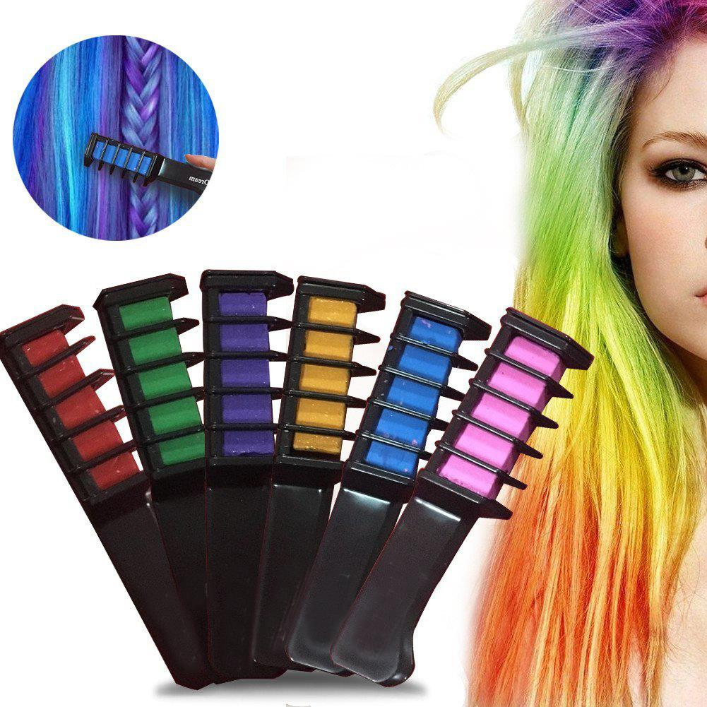 6 farben haar kreide haarfarb haarkreide kurz haart nung. Black Bedroom Furniture Sets. Home Design Ideas
