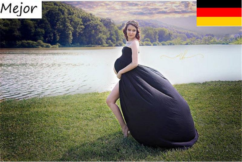 neuschwangere kleid umstandsmode schlitz kost me schwangere fotoshooting kleider ebay. Black Bedroom Furniture Sets. Home Design Ideas