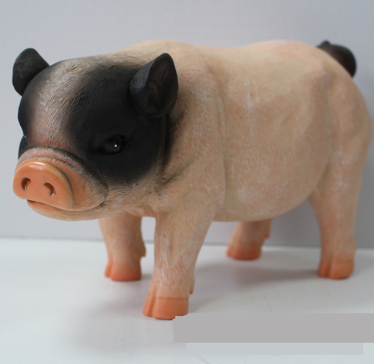 Piggy bank money box tricolor pig resin decoration gift new large ebay - Resin piggy banks ...
