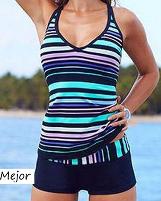 damen camouflage stripe badeanzug bademode schwimmanzug sport tankini ebay. Black Bedroom Furniture Sets. Home Design Ideas