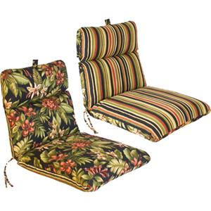 new 4 outdoor patio furniture chair cushions pattern reversible deep