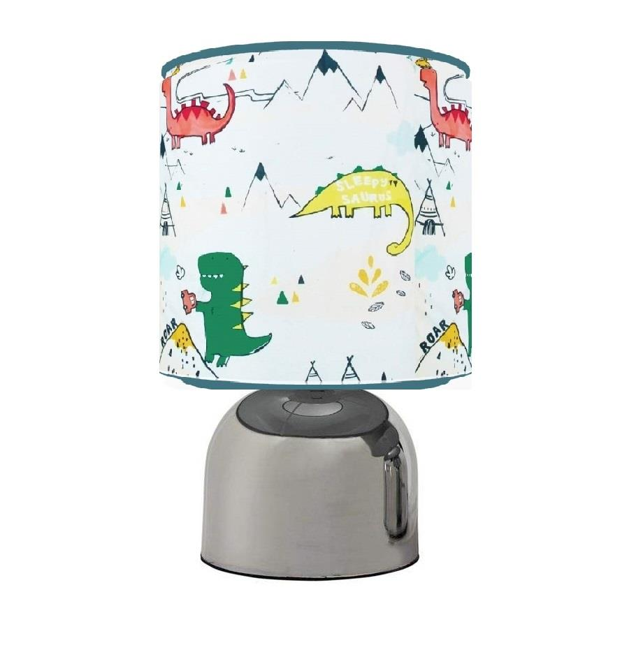 DYLAN THE DINOSAUR DINO TOUCH TABLE BEDSIDE LAMP KIDS ROOM MATCHES