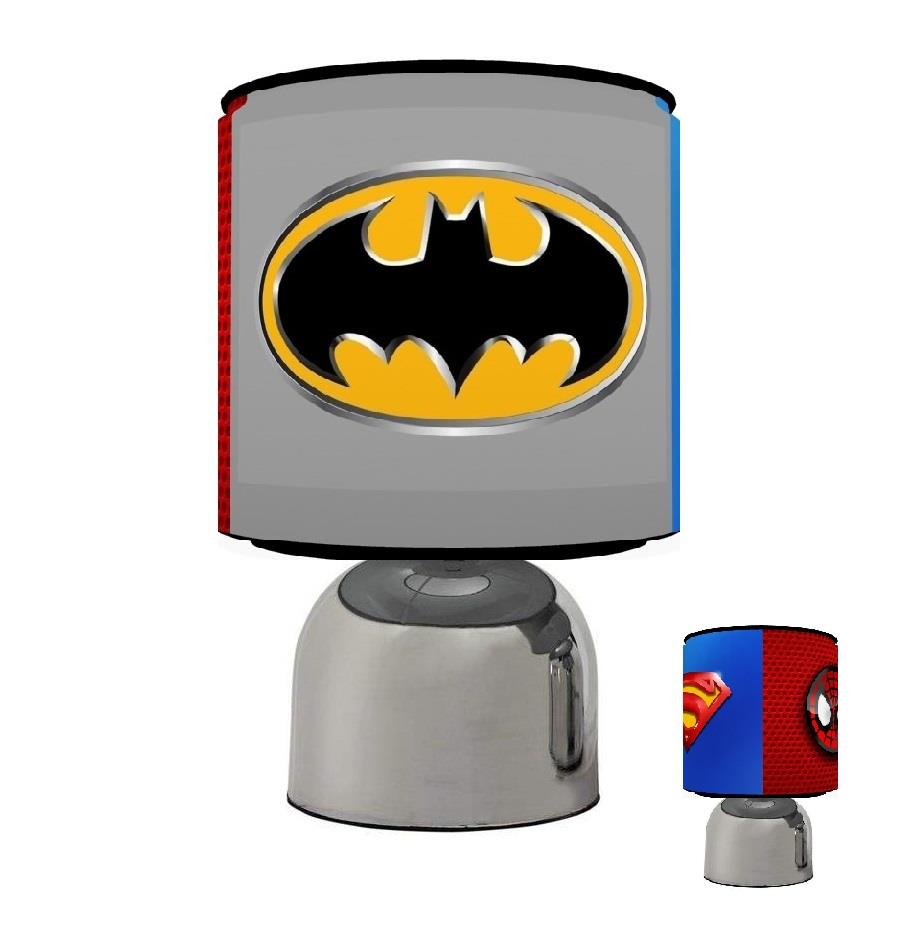 Superior SUPERHERO LOGOS SUPERMAN BATMAN SPIDY TOUCH TABLE BEDSIDE