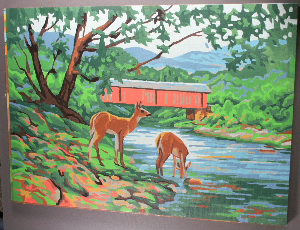 Paint by Number-Deer by Stream