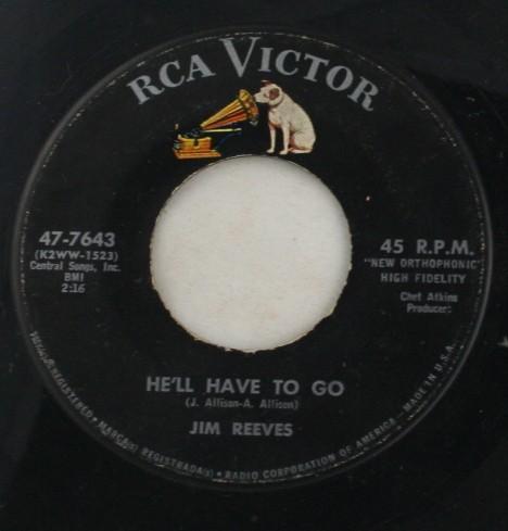 vinyl record, 45, Jim Reeves
