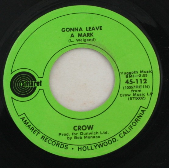 vintage 45 record, Crow, Evil Woman, amaret Records