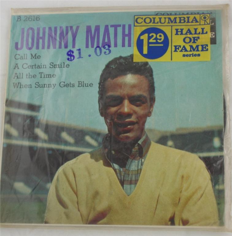 vintage 45 record, Johnny Mathis, Columbia