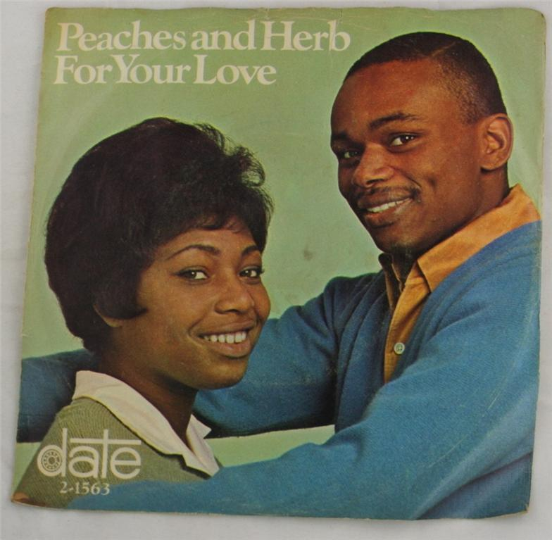 vintage 45 record, Peaches and Herb, Date
