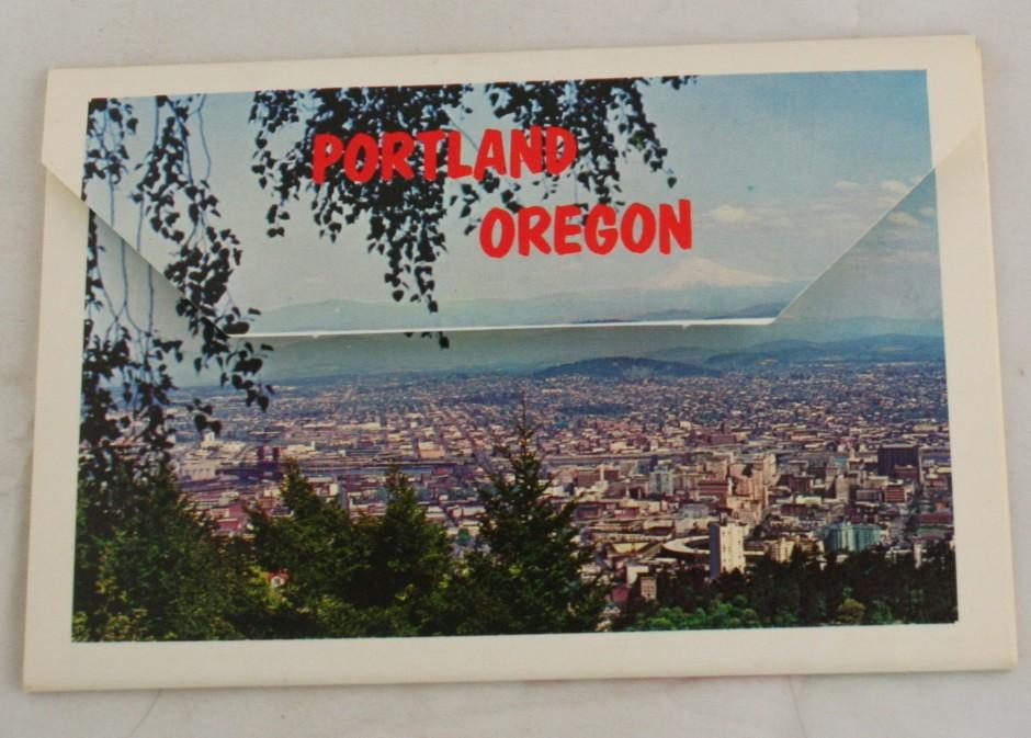 vintage postcard, Portland, Oregon, folder