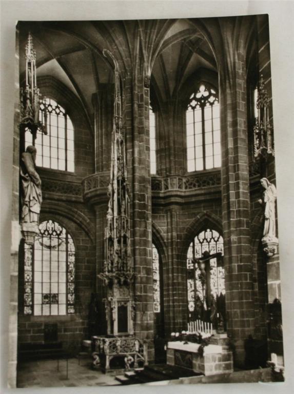 vintage postcard, Bavaria, Germany, Nurnberg, St. Lorenz Church