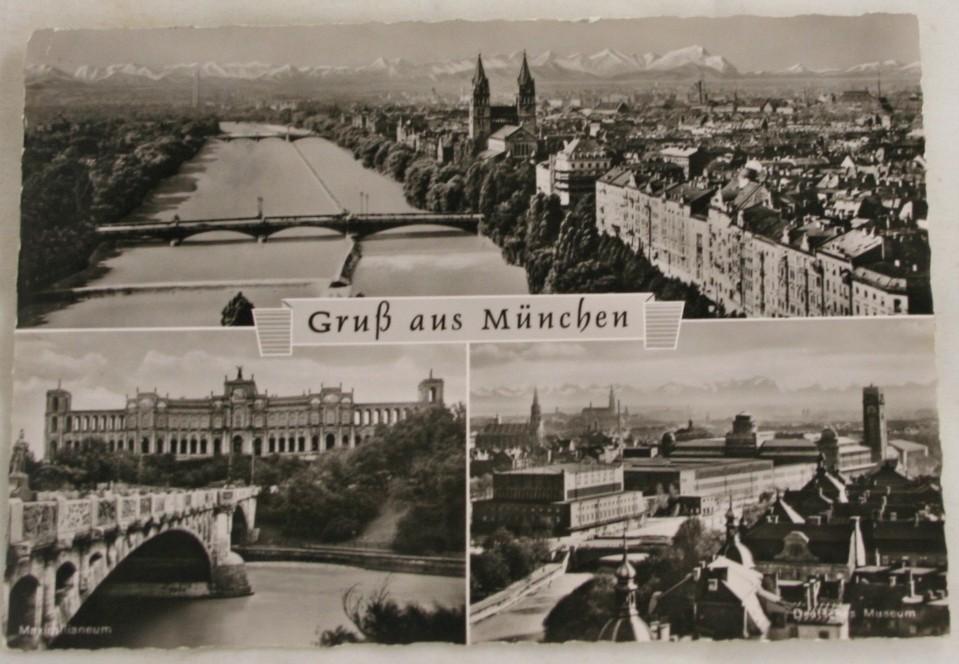 vintage postcard, Germany, Munich, Bavaria