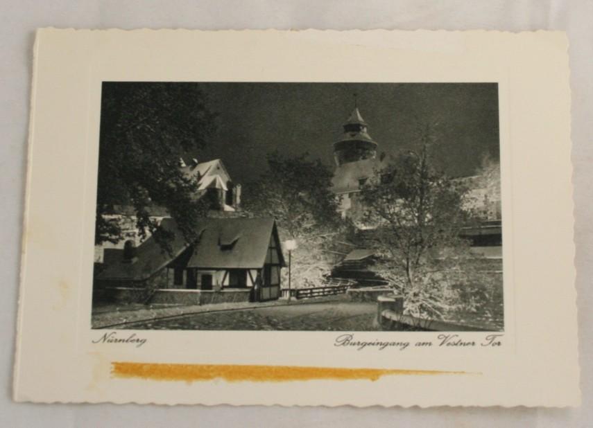 vintage postcard, photo print, Nurnburg, View of Tower