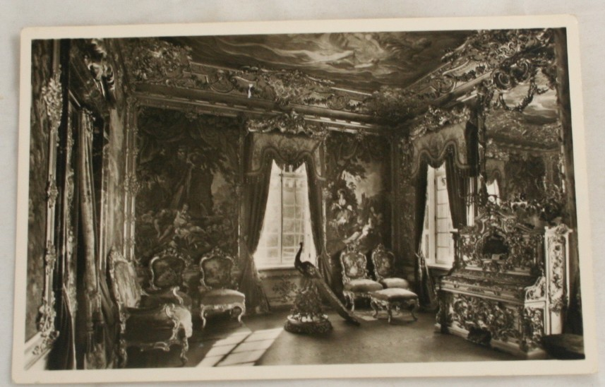 vintage postcard, Schloss Linderhof, castle Linderhof, Bavaria, Germany