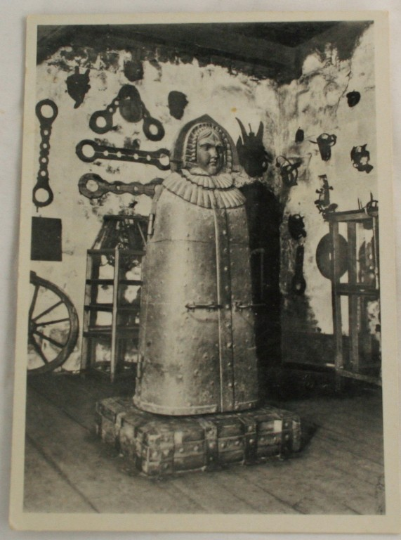 vintage postcard, Nurnberg, Castle, torture instruments