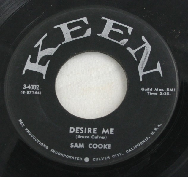 vintage record, vinyl, 45, Sam Cooke, For Sentimental Reasons, Desire Me,Keen