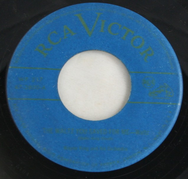 vintage vinyl, record, 45, Wayne King Orchestra, The Waltz You Saved For Me, The Three Suns, Twilight Time,RCA Victor