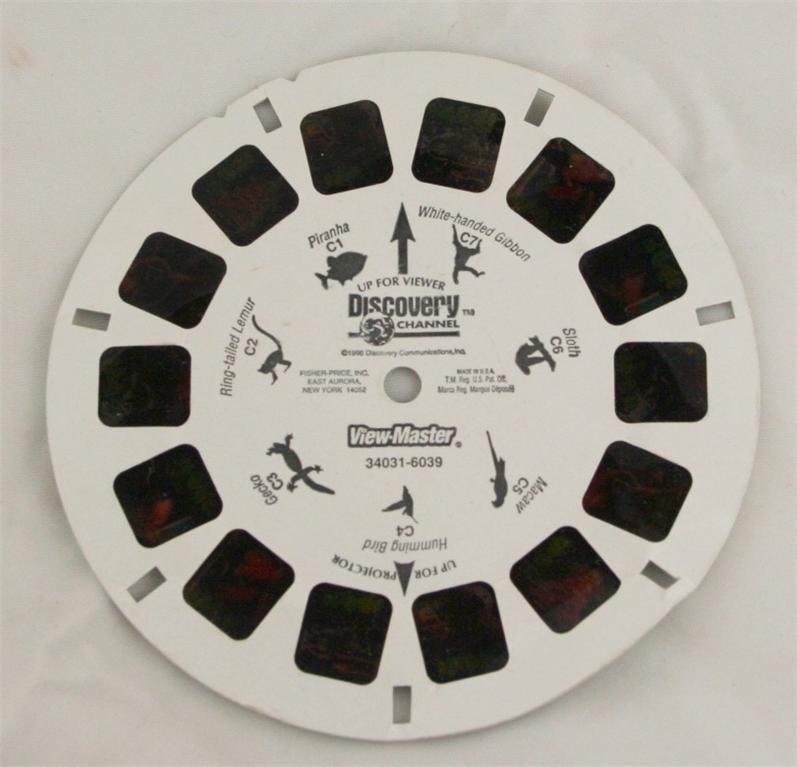 Discovery Channel, viewmaster, reel, jungle animals