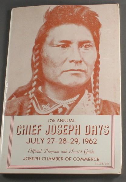 vintage program, rodeo, Chief Joseph Days, 1960s