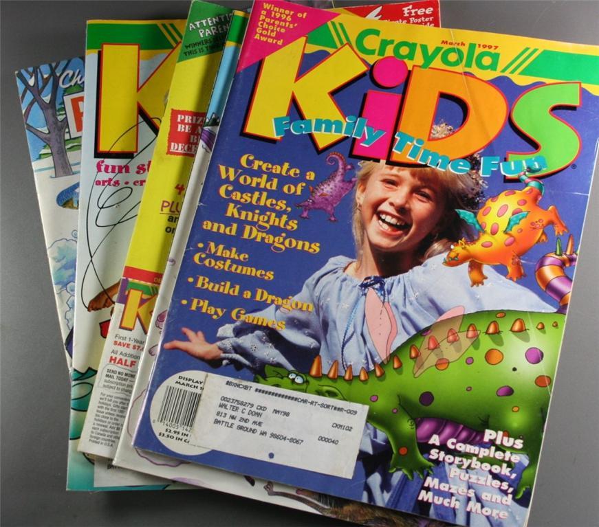 magazine back issues, Crayola Kids, Children's Playmate, 1996